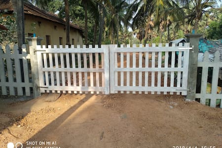 gate entry to the beach house
