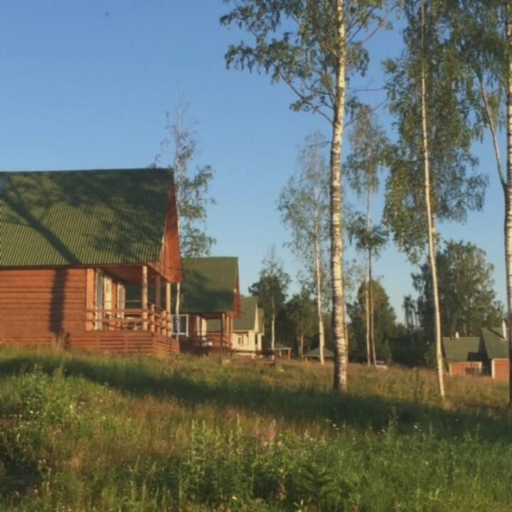 Уютный бревенчатый дом с русской печкой
