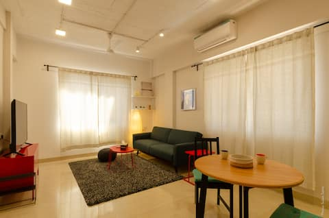 Quirky w/ Terrace - Spectacular, Furnished 1BHK.