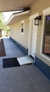 A ramp has been added to make traversing the threshold easier.