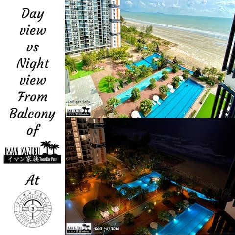 New Look! Pool&Sea View&Wifi @Iman Kazoku TimurBay