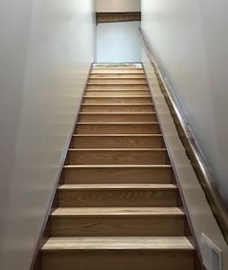 Step to 2nd Floor to the Man's Cave.