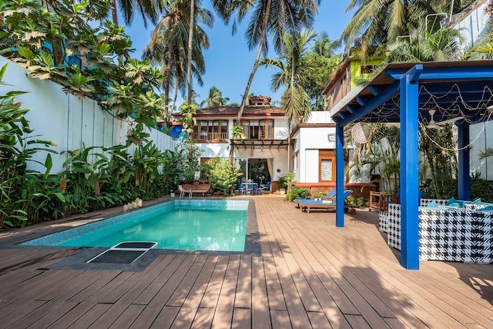 Mawi Villa 2 bedroom/ private pool/ Arambol Beach