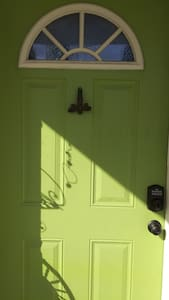 """Front door with  personally coded lock, over 32"""" wide"""