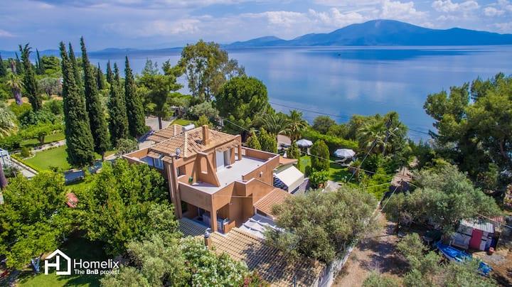 ☆ 250m² Faros Seaside Villa | Politika Evia