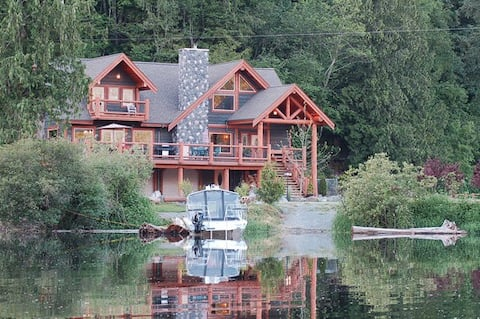 Eagle Tree Lodge on Cheam Slough off Fraser River