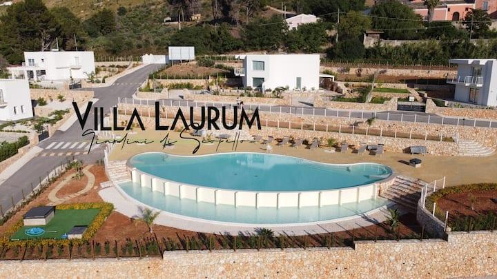 Villa Laurum A- con piscina panoramica sul golfo