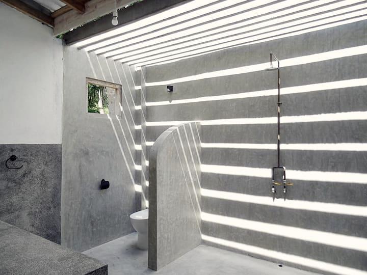 Titanium Room, Hiriketiya House - Kitchen-Laundry
