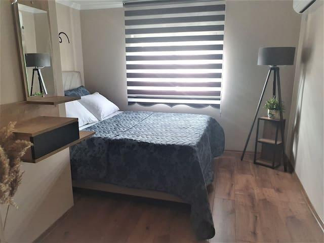 First Bedroom - Yatak odası  - Спальня  comfortable  , new decorated  and sunny room