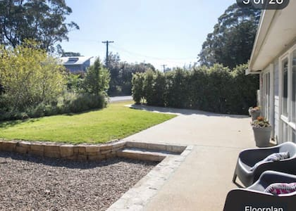 One step on the right hand side of the house however as mentioned there is flat access and no steps access to the front door and to the back of house with space for wheelchair access.