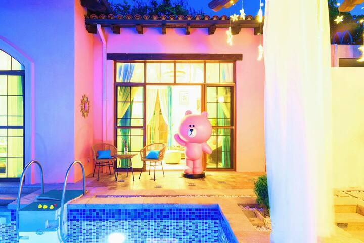 三亚海棠湾一房亲海泳池别墅 (小区有私人沙滩)