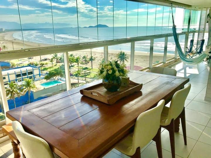 Bertioga/SP , Comfort apartment facing the sea