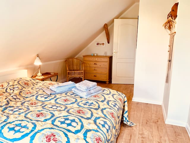The other double bed on the top floor
