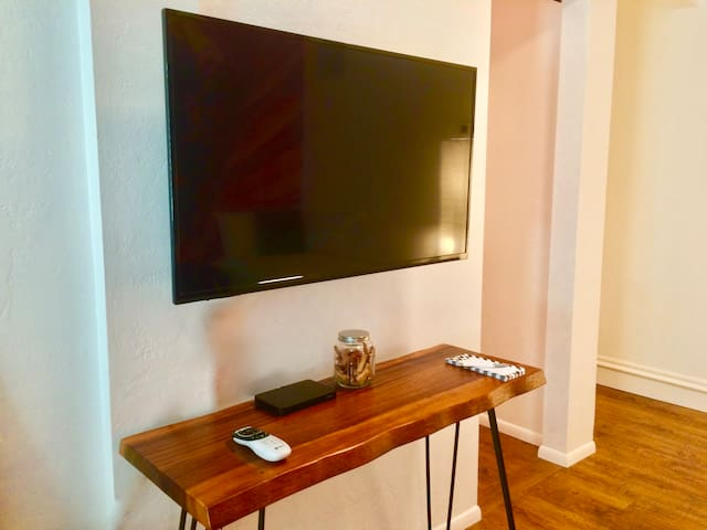 42 inch TV with all the apps and cable.
