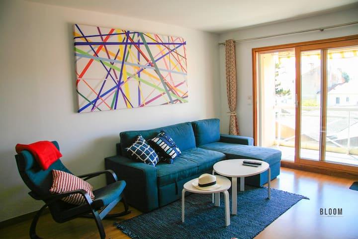 Appartement 4 couchages, garage et wifi gratuit
