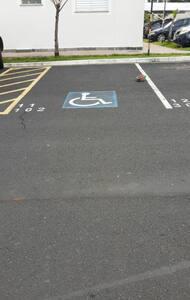 Posto auto per disabili