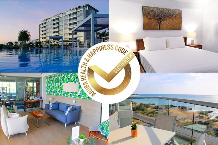 Aruba Oceanfront Top Floor Condo Eagle Beach