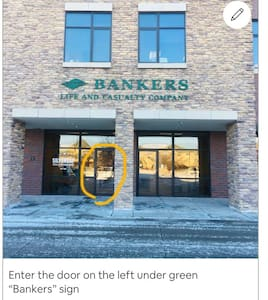 No curb or stairs to enter the main entrance, also handicap parking right in front