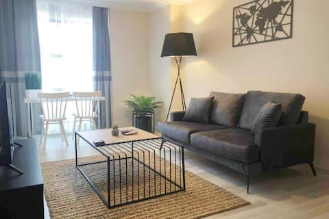 1 Bedroom + 1 Living Room Washing/Drying - Olive
