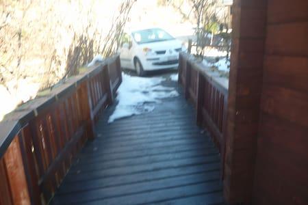 Rollstuhlfahrer kann über die Brücke reinkommen.