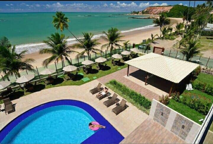 Flat Frente Mar com Infraestrutura de Hotel