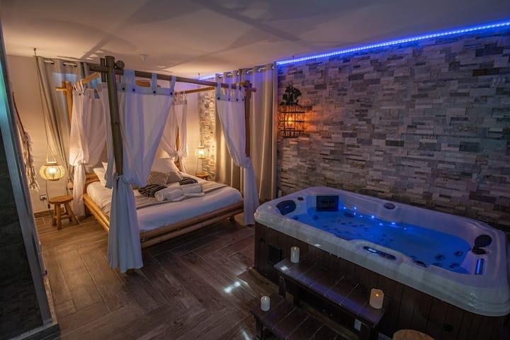 Ô Cocon Spa - Logement avec spa intérieur & jardin