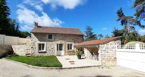 Casa con chimenea cerca de Fontainbleau ☘⛏