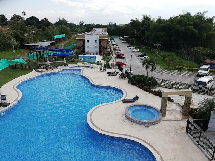 Apartamento Quindío eje cafetero wifi piscina BBQ