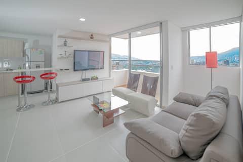 Majestic,amazing,cozy Apartment Sabaneta Down town