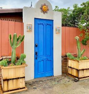 """Blue door courtyard entry is 30"""" wide"""