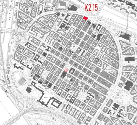 Möbliertes Zimmer im Herzen Mannheims in K2,15