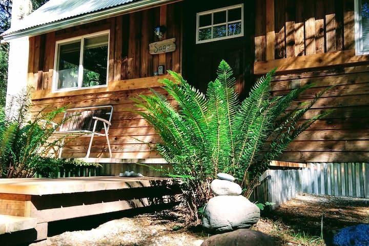*Super Cute* Tiny Cabin - 1 mile to Mt. Rainier!