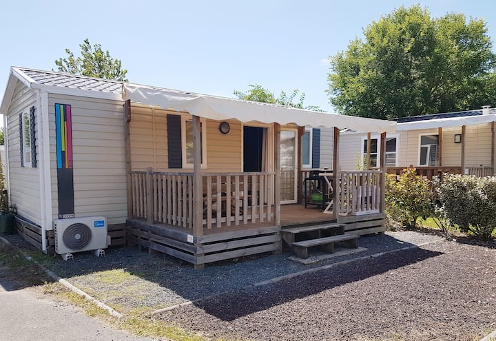 Mobilhome climatisé 6 pers. Camping Loyada 4*****