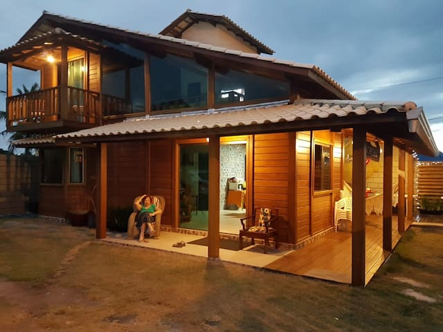 beautiful rustic wooden house