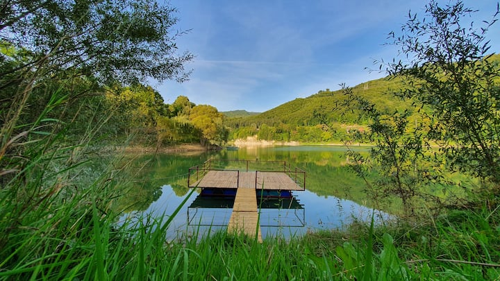 Lake Paltinu & Forest Cabin in Valea Doftanei