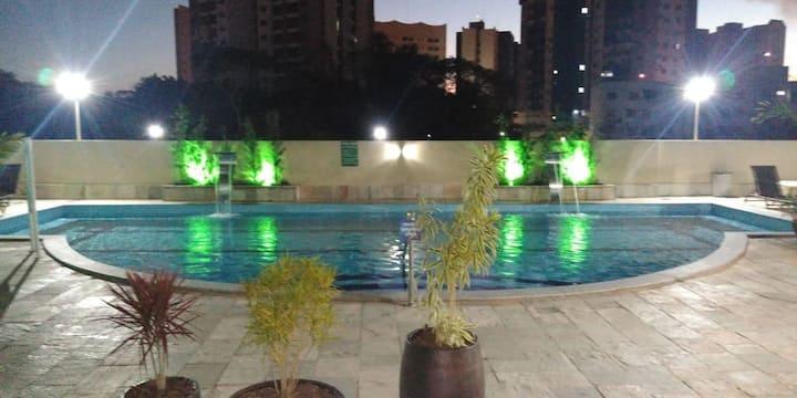 Apto em caldas novas, com piscinas termais