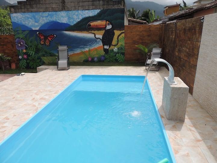 Casa Inteira Ubatuba Maranduba casa com piscina