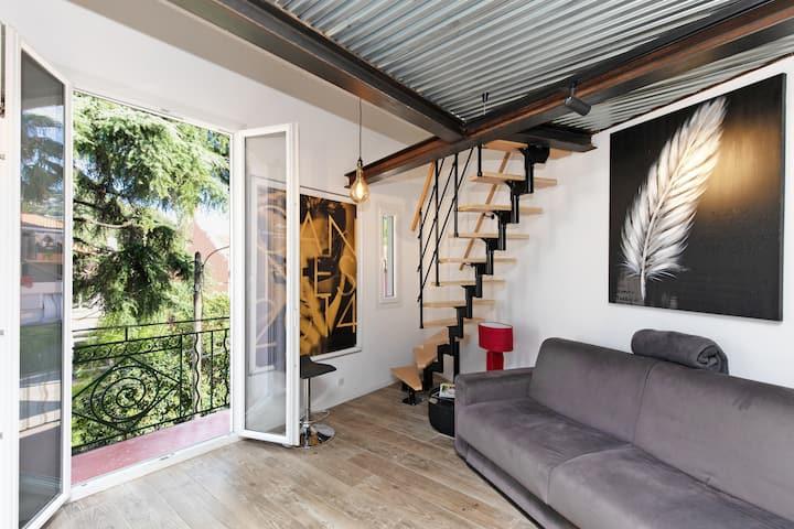 Duplex cosy style atelier à 800 metres du palais