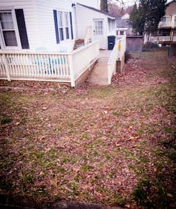 The lawn leading to the deck ramp is extremely uneven and should be avoided if possible
