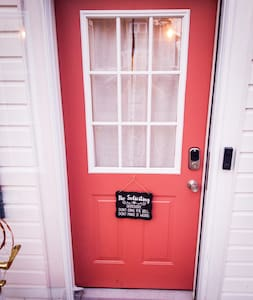 """The front entrance offers a 35"""" wide door opening as it sits. Another ¾"""" could be gained by removing the outer storm-door, easily accomplished if requested by a Guest. The 2nd side kitchen entry door opening width is less than 32""""."""
