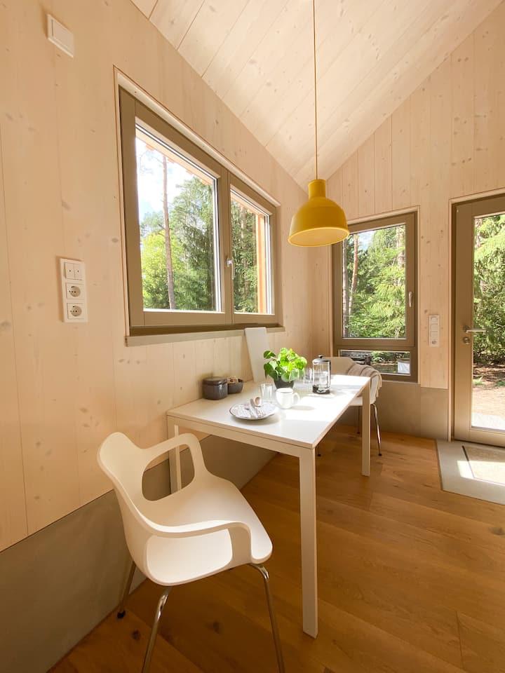 Behagliches, modernes Massivholzhaus