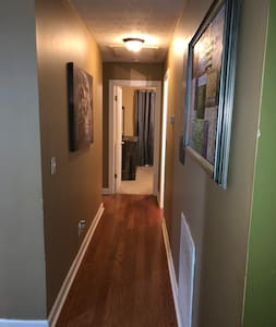 Hallway entrance leading into the bedroom