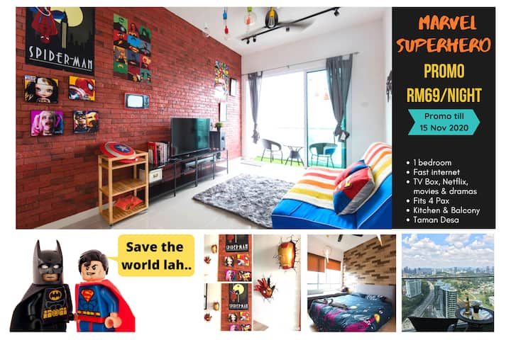 ★MARVEL SUPERHERO Fun House 5 mins to Mid Valley