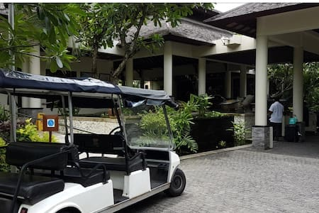 Hotel concierce will help you with buggy car or wheel chair to my condominium, just about 60 meters from lobby.