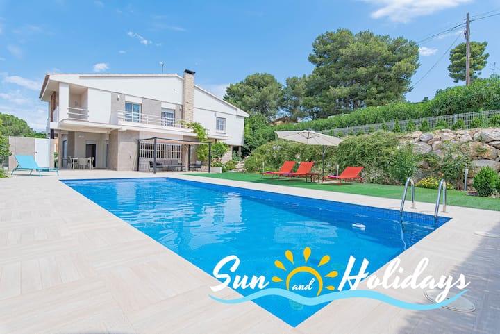 Villa Ametllers con piscina privada Ref 166