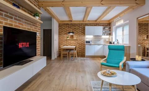 Apartment Vratna with terrace in the nation. park