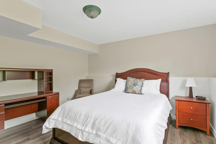 Bedroom 1 with a queen bed.