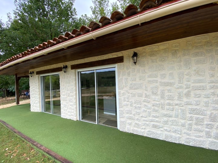 Luxurious cottage with pool on eco micro farm.
