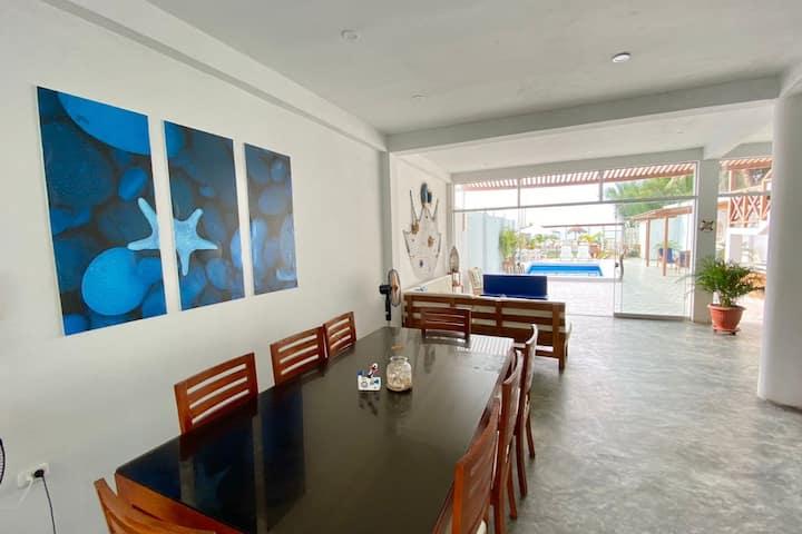 Casa de playa Frente al mar Chiki's House-Equipado