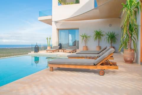 5 sypialni, basen z widokiem na morze Willa - Essaouira